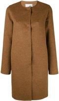 Manzoni 24 - collarless midi buttoned coat - women - Cashmere/Wool - 42
