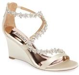 Badgley Mischka Women's Bennet Embellished Wedge Sandal