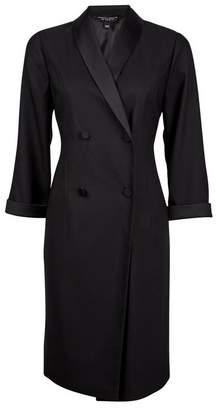 Dorothy Perkins Womens Black Tuxedo Style Dress, Black