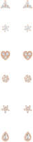 Accessorize Rose Gold 12x Cutesy Stud Earrings Set