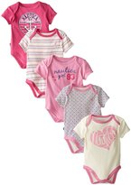 Nautica Baby-Girls Newborn 5 Pack Hearts Bodysuits, Assorted, 0-3 Months