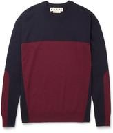 Marni - Slim-fit Colour-block Cashmere Sweater