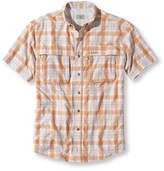 L.L. Bean Men's Tropicwear Shirt, Plaid Short-Sleeve