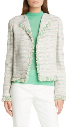 St. John Ombre Taped Inlay Knit Jacket
