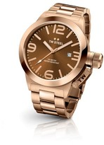 TW Steel Canteen CB192 Rose Gold Automatic with Sunray Brown Dial 50mm Mens Watch
