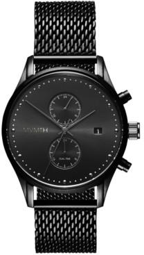 MVMT Men's Voyager Black Stainless Steel Mesh Watch 42mm