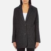 Levi's Women's Wool Cocoon Coat Bleached Wool