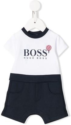 Boss Kidswear Air Balloon Print Bodysuit