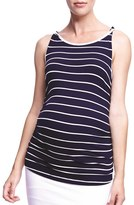 Women's The Urban Ma 'Twist' Stripe Maternity Tank