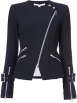 Veronica Beard zipped biker jacket - women - Cotton/Polyamide/Spandex/Elastane - 0