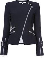 Veronica Beard zipped biker jacket - women - Cotton/Polyamide/Spandex/Elastane - 2