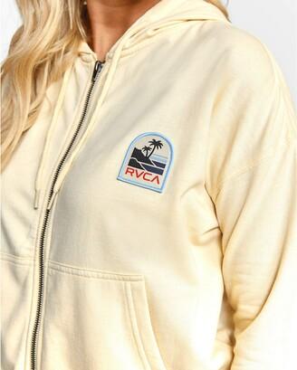 RVCA Junior's Vista Zip UP Hooded Sweatshirt