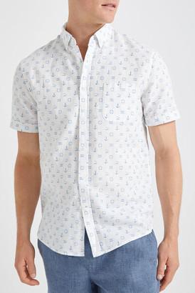 Sportscraft Anchor Linen Blend Print Shirt