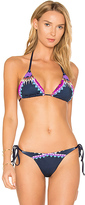 Agua Bendita Anochecer Top in Navy. - size M (also in S)