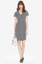 Diane von Furstenberg New Julian Two Short Sleeve Silk Jersey Wrap Dress