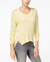 Armani Exchange High-Low V-Neck Sweater