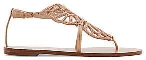 Sophia Webster Women's Bibi Butterfly Stud Leather Gladiator Sandals