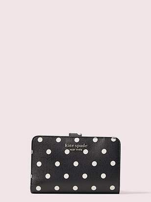 Kate Spade Spencer Cabana Dot Compact Wallet