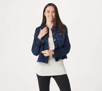 Logo by Lori Goldstein Denim Button Front Jacket