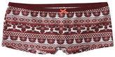 Aeropostale Reindeer Fair Isle Boyshort Underwear Red