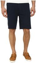 John Varvatos Five-Pocket Jean-Style Knit Short with Raw Cut Hem