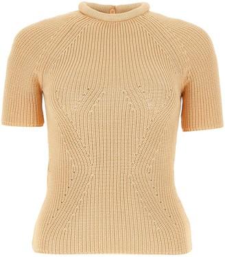 Fendi Knitted Short-Sleeve Top