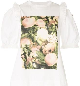Moncler floral-print graphic T-shirt