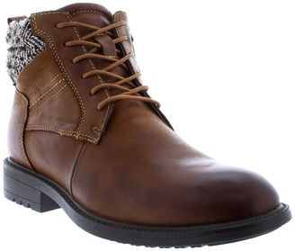 English Laundry Reuben Houndstooth Collar Leather Lace-Up Boot