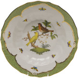 Herend Rothschild Bird Green Motif 06 Rim Soup Bowl