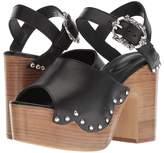 The Kooples Wood Heel Leather Sandal Women's Sandals