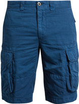 Incotex Cargo-pocket cotton and linen-blend shorts