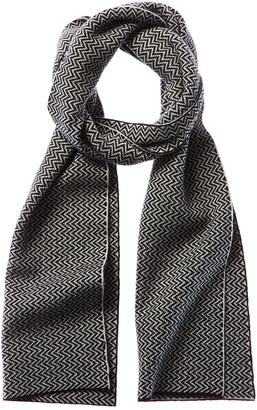 Portolano Wave Stitch Wool & Cashmere-Blend Scarf