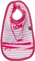 BabyCentre Rockabye-Baby Beads Bib (Pink/White, One Size)