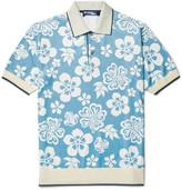 Junya Watanabe - Floral-print Jersey Polo Shirt