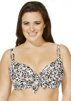 Marie Meili Curves Animal Print Underwired Fuller Bust Bikini Top, Women's