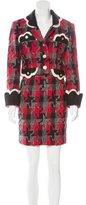 Moschino Wool Tweed Skirt Suit