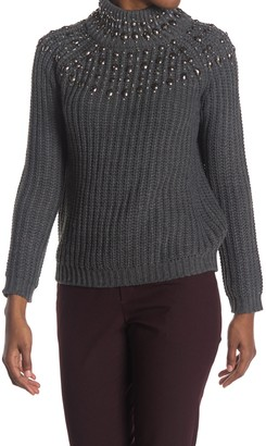 Cliche Embellished Turtleneck Sweater