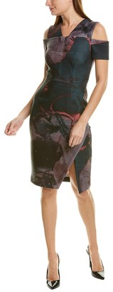 Yigal Azrouel Cold-Shoulder Sheath Dress
