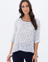 Privilege Penny Paisley Swing Top