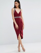 TFNC Embellished Detail Midi Wrap Dress