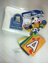 Gerber Baby Gift Bundle - 2 Items Woven Fitted Crib Sheet and Baby Einstein Take Along Discovery Cards