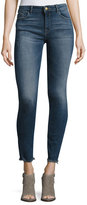DL1961 Florence Instasculpt Cropped Skinny Jeans with Raw Hem, Nugget