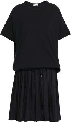 Brunello Cucinelli Bead-embellished Cotton-poplin And Jersey Dress