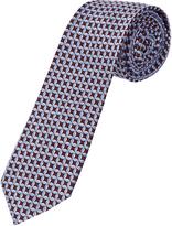 Oxford Silk Tie Pttn Reg Bdx/Blue X