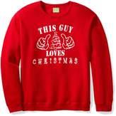 Ugly Fair Isle Unisex This Guy Loves Christmas Long Sleeve Knit Sweatshirt Medium Red