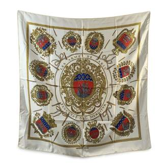 Hermes Carre 90 White Silk Silk handkerchief
