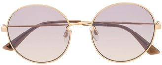 McQ Swallow Oversized Round-Frame Sunglasses