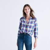 Madewell Shrunken Ex-Boyfriend Shirt in Costello Plaid