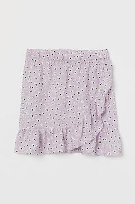 H&M Ruffled Wrapover Skirt - Purple