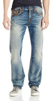 True Religion Men's Quick Fade Super T Ricky Relaxed Straight with Flap Jean